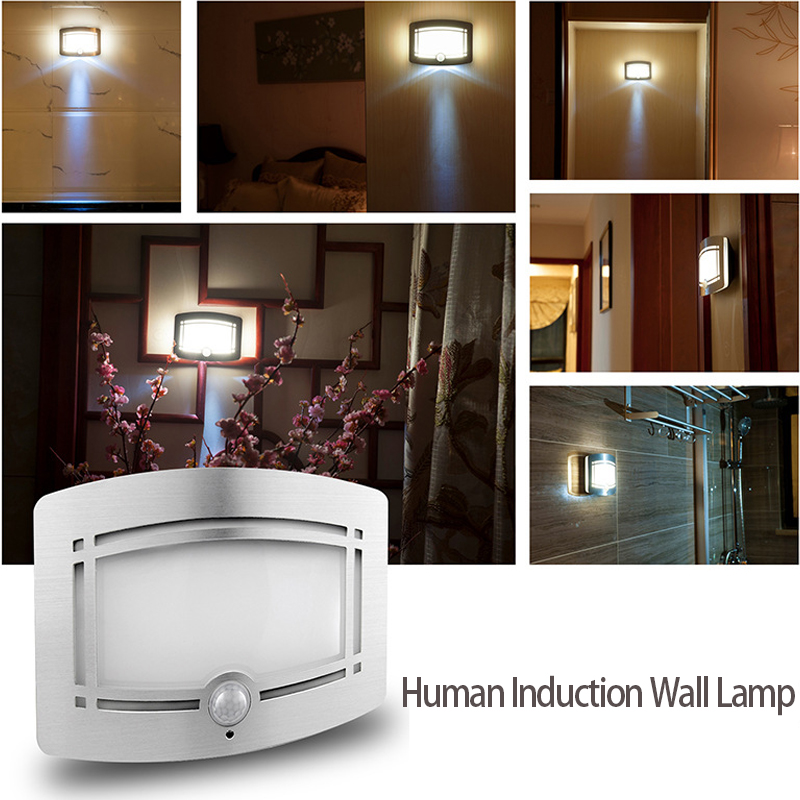 Indoor PIR Motion Sensor Led Stair Light Human Body Induction Lamp Steps  Ladder Wall Lamps LED Min Ceiling Lamp