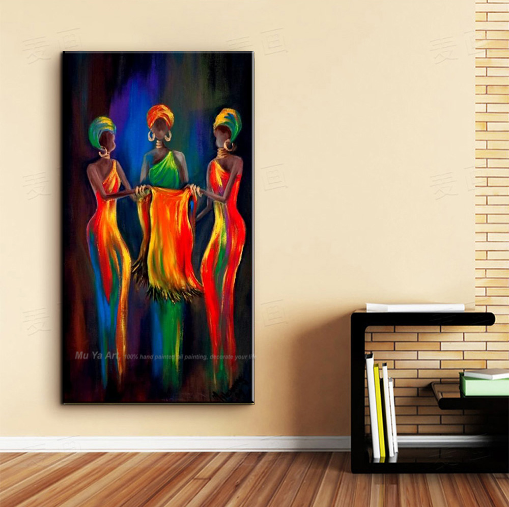 Tableau Moderne Vertical Us 39 47 14 Off Muya Abstract Painting Canvas Vertical Oil Painting On Canvas African Paintings Decorative Pictures For Living Room Handmade In
