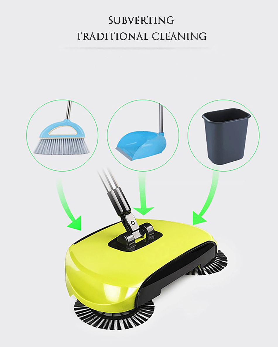 Stainless Sweepers Sweeping Machine Push Type Steel Hand Push Hand Push Magic Broom Sweepers Dustpan Household Cleaning Tools 6