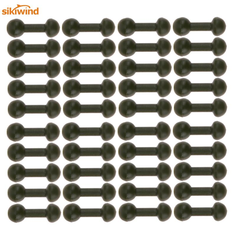 40 Pcs/Bag Carp Fishing Chod Beads Soft Rubber Beads Release Rig Heli Fishing Lure Baits Swivel Fishing Tackle Accessories Pesca