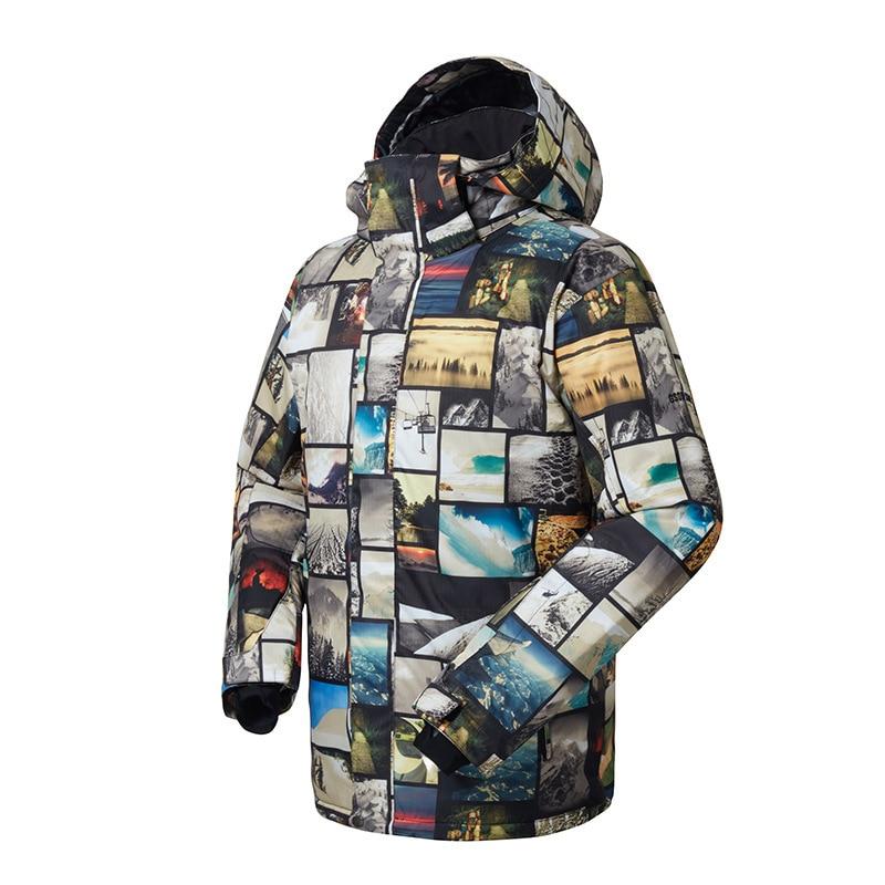 Gsou Snow costume de Ski extérieur pour hommes veste de Ski Double planche hommes chaud respirant imperméable coupe-vent vêtements en coton pour hommes - 2