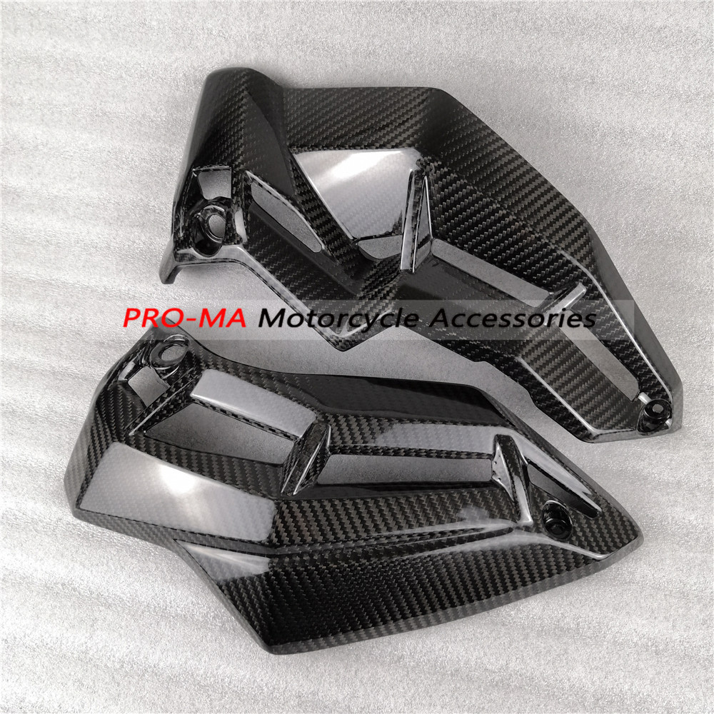 Motorcycle Fairing Belly Pan In Carbon Fiber For Kawasaki Z900 2017-2018 Twill Glossy Weav