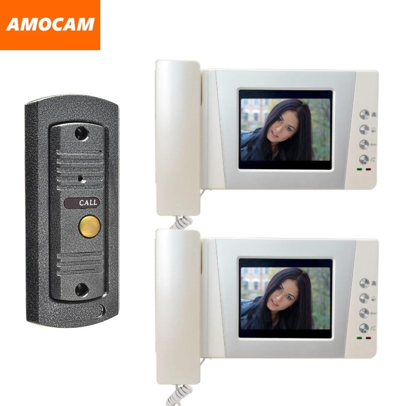4.3 Telephone Monitor Video Door Phone Doorbell System Video Intercom IR pinhole Camera Video interphone 1-Caremera 2-Screen