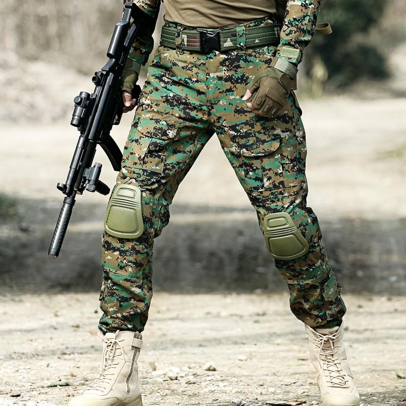 Tactical Camo Lastbyxor Knäkuddar Män Armé Militär Combat - Herrkläder - Foto 3
