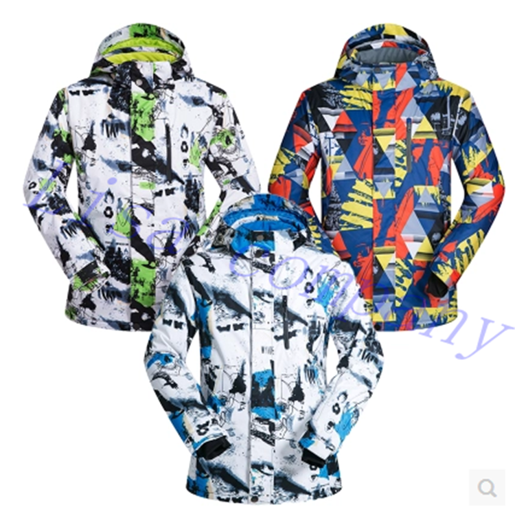 2016 hot sale men winter ski jacket single plate and double plate ski waterproof wind proof thickening and warming ventilation