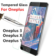Tempered Glass For Oneplus 1 3 X Oneplus3 OneplusX 1+3 1+X cover screen protective smartphone toughened case 9H on crystals thin
