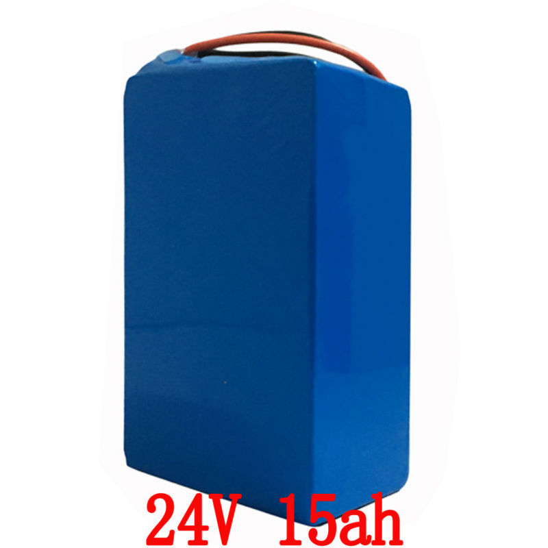 24v 15ah lithium battery pack 24v 15ah battery li-ion for 24v bicycle battery pack 350w e bike 250w motor with 15A BMS + Charger