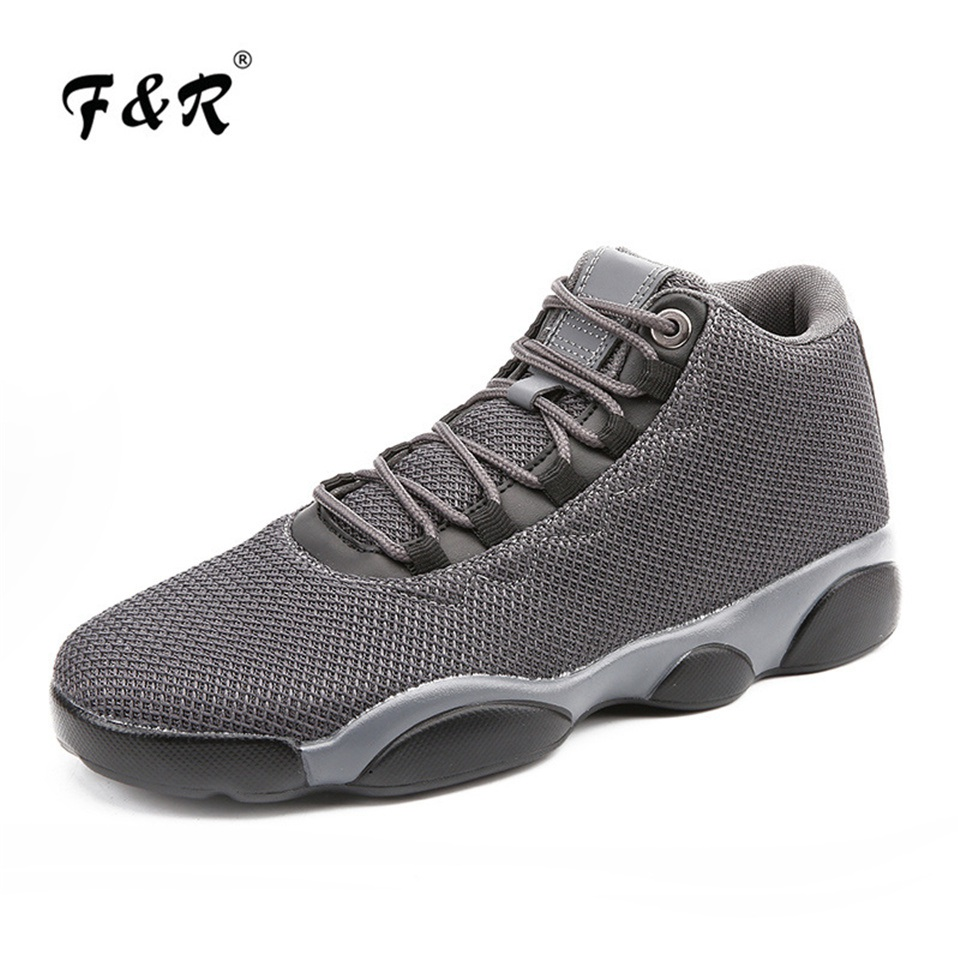 F&R 2018 New Arrival Men Basketball Sneakers Mesh Breathable Jordan Outdoor High Top Basketball Athletic Footwear 13 39-45