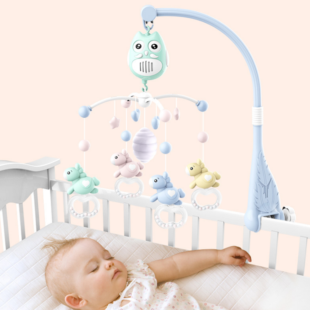 Baby Bed Bell Musical Toys For 0-12 Months Newborn Kids Gift Cartoon Owl Horse Design Mobile Crib Mobile Baby Rattle Bed Ring
