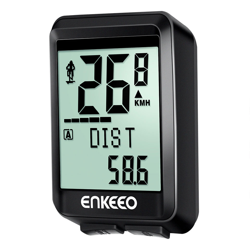 Enkeeo BKV-1537 Wired Wireless Bicycle Computer Distance Recording Odometer
