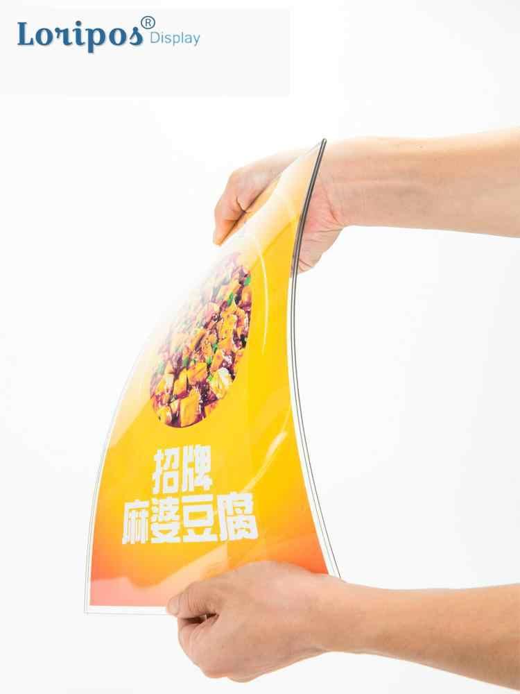 Акриловая настольная рекламная подставка табличка с меню держатель стенд двухсторонняя Нижняя нагрузка настольная Этажерка для сервировки стенд портрет стиль меню Ad рамка