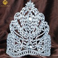 "Fantastic Large 9"" Tiaras Diadem Clear Austrian Rhinestone Crystal Crowns Wedding Bridal Beauty Pageant Party Costumes"
