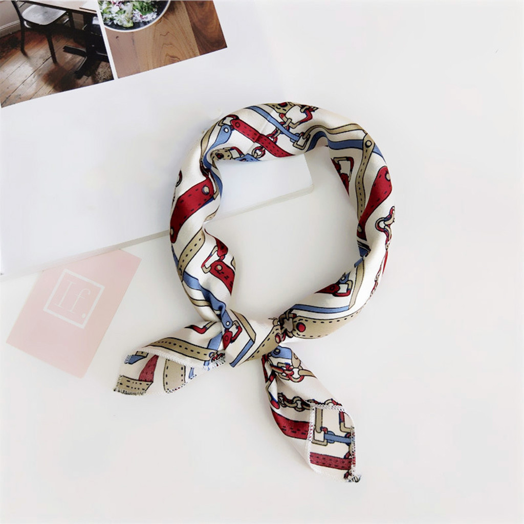 Scarf   Fashion Women Square Head   Scarf     Wraps     Scarves   Printed Kerchief Neck   Scarf   foulard femme moda mujer 2019 modis