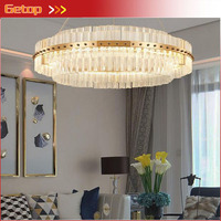 Modern Lighting Crystal Lamp American Neo Classical Creative Living Room Bedroom Restaurant Villa Fashion LED Crystal