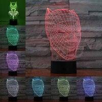3D LED Black Panther Night Light USB Touch Luminous Super Hero Desk Lamp Kids Bedroom Sleep