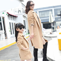 Mãe e filho mãe e filha roupas de outono e inverno de lã casaco de lã casaco de lã casaco longo blusão para meninas