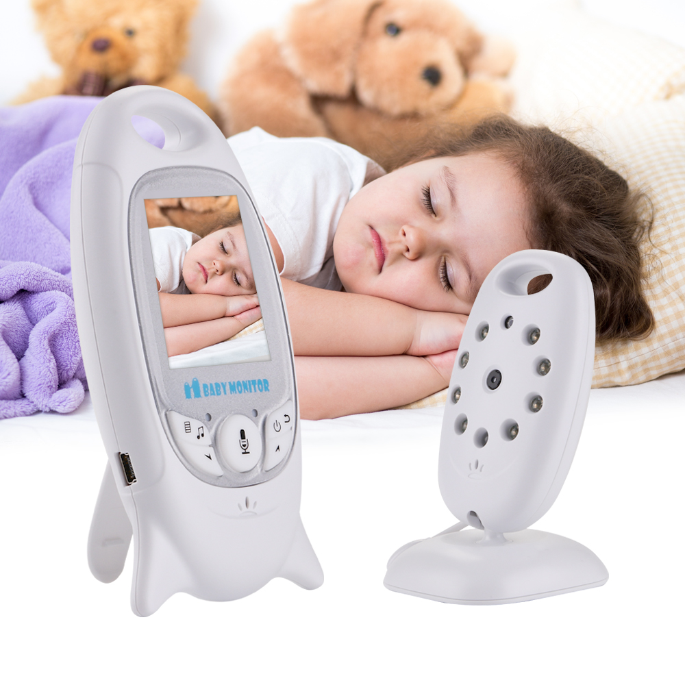 VB601 Mini Video Baby Monitor 2 Way Talk Night Vision Camera 2'' LCD Babysitter Night Vision Temperature Security 8 Lullabies