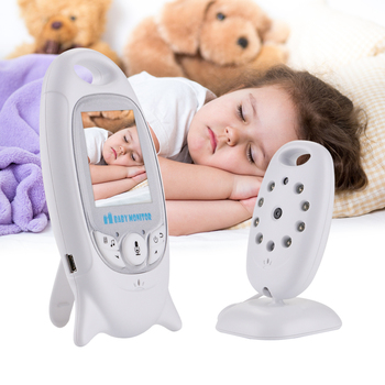цена на VB601 Mini Video Baby Monitor 2 Way Talk Night Vision Camera 2'' LCD Babysitter Night Vision Temperature Security 8 Lullabies