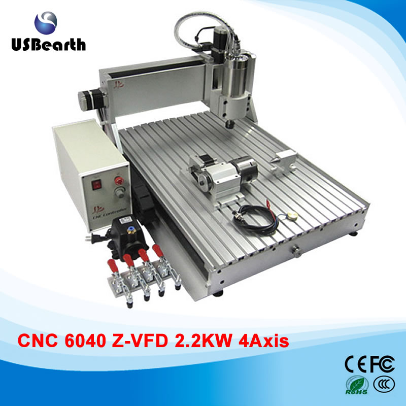 2.2kw 4 axis cnc router 6040 metal engraving milling machine with limit switch for metal stone wood кронштейн для тв kromax star 22