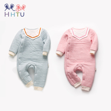 HHTU Baby Warm Rompers Autumn Winter Newborn Boys Girls Soft Infant Clothing Cotton Long Sleeve Kid Jumpsuits Outfits