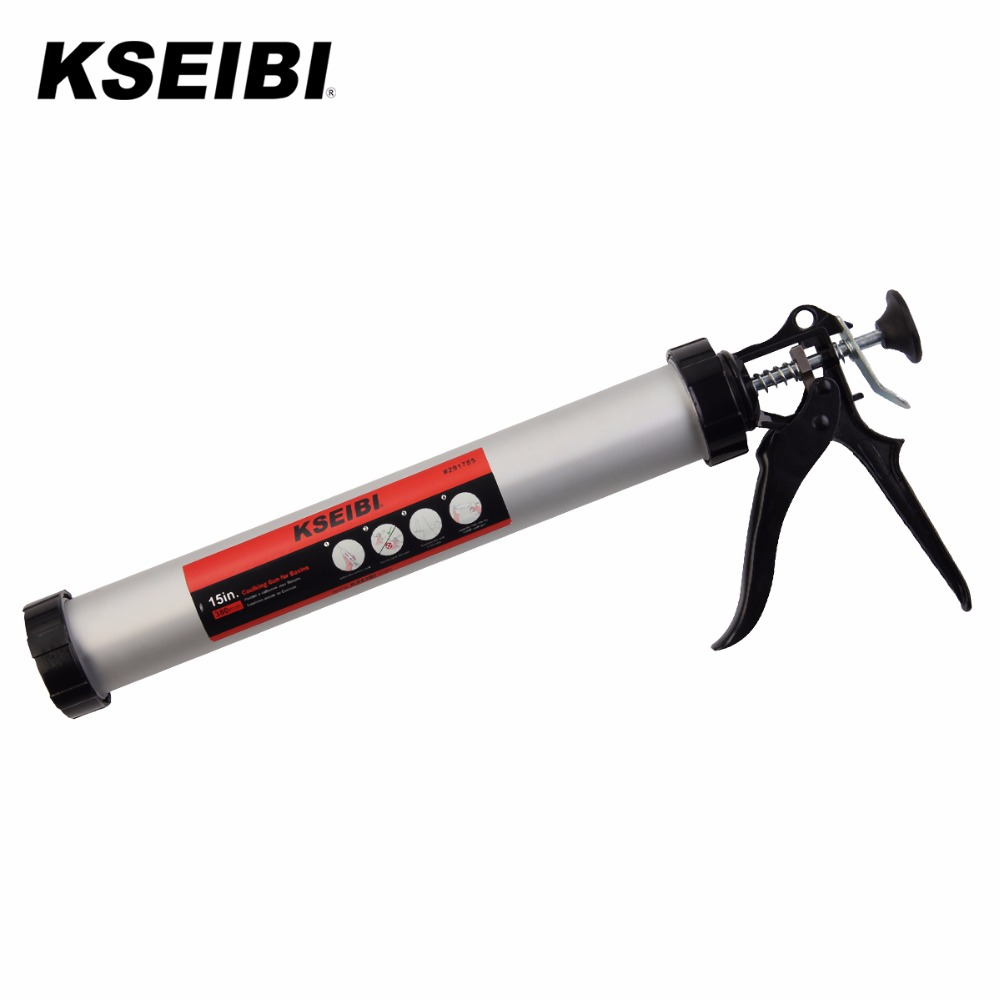 KSEIBI Heavy Duty Manuel En Aluminium Saucisse Pistolet À Calfeutrer Pour Construction & Silicone Mastic 291785