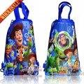 20 pcs Toy Story Dos Desenhos Animados Com Cordão Backpack Bags 34*27 CM Mobiliário Escolar Não-Tecido Do Partido Dos Miúdos & Sacos de doces como Presente