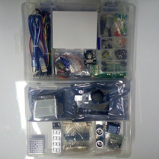 Starter kit с Step Motor/Серво/1602 LCD/перемычку/ООН R3 starter Kit для ARDUINO окончательный комплект