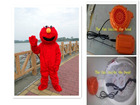 BING RUI CO elmo costumes for adults elmo mascot costume elmo mascot high quality Long Fur Elmo Mascot Costume send you a fan