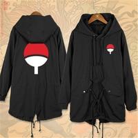 Anime Cartoon NARUTO Sasuke Uchiha Itachi Sharingan Cosplay Costumes Cotton Men Women Trench Jackets Warm Hoodies Coat New Top