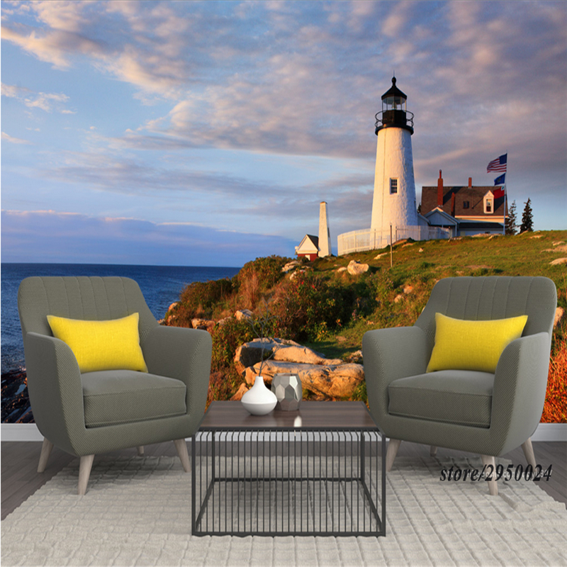 Customize Wall Murals Scenery United States Maine Coast Lighthouse Wallpaper Murals Study TV Background Living Kitchen Bedroom coast of maine fish bone meal soil amendment budding