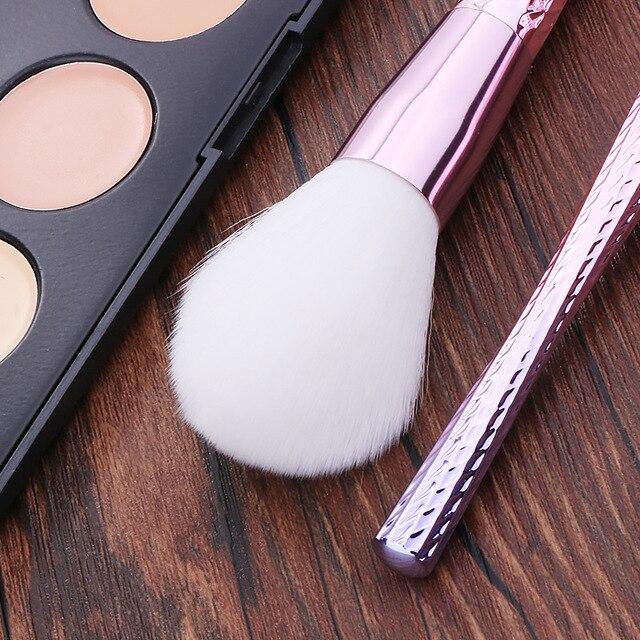 Professional 7pcs Unicorn Thread Makeup Brush set Rainbow Make Up Brushes Blending Powder foundation eyebrow contour Brush T 4