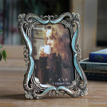 Creative metal photo frame European minimalist retro innovation horizontal and vertical home luxury