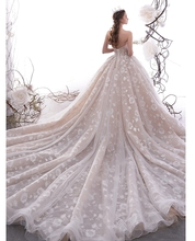 Robe De Mariee Princesse Luxe 2019 Bling Wedding Dresses Shinny real photo Dress Flowers Lace Gowns
