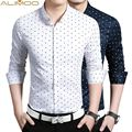 Alimoo 2016 Spring Cotton Men Shirt Plus Size (M--5XL) 3 Colors Leisure shirt Korean self-cultivation shirt DJ320TP45