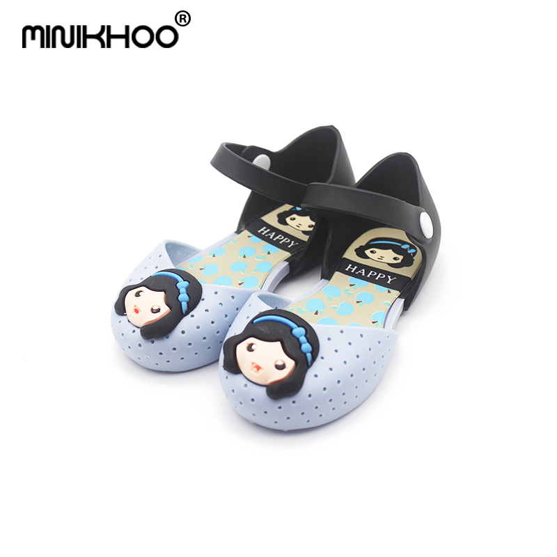 Mini Melissa Girls Jelly Sandals Princess Shoes 2017 Summer Slippers Cute Princess Sandals Jelly Shoes Soft Bottom Sandals