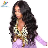 Sevengirls Brazilian 360 Lace Frontal Wig 100% Human Hair Wigs Natural Color Wave 360 Lace Wig 150% 180% Density 10 24 Inches