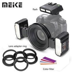 Meike MK-MT24 Macro Twin Lite Flash Speedlite for Canon Nikon Sony A9 A7III A7RIII and other MI Hot Shoe Mount Mirrorless Camera