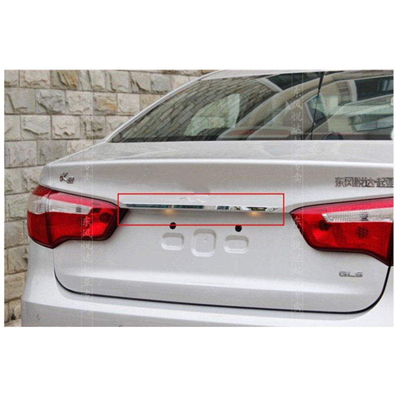 ABS Chrome Belakang Trunk Lid Cover Trim Untuk 2011-2012 KIA Rio / K2 - Suku cadang mobil - Foto 4