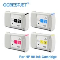 [Derde Party Merk] Voor HP 90 Vervanging Inkt Cartridge Voor HP DesignJet 4000 4000ps 4020 4500 4520 (4 kleuren Beschikbaar)