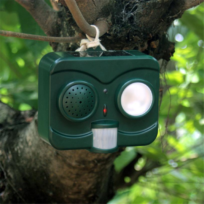 Reject Shop Outdoor Solar Lights: Garden Gunshot Ultrasonic Solar Powered Animal Repeller