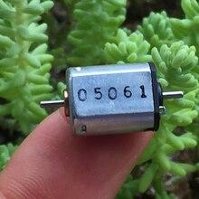 Металлический щеточный микро-двигатель постоянного тока 3-6 в, двойной вал, точный маленький двигатель, бесшумный, быстрый, скоростной Вал, диаметр 1 мм, 14600-29000 об/мин
