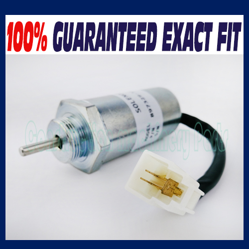 Free shipping, Fuel Shut Off Solenoid Valve 8973295680 12V For Isuzu 3LD1 3LD2 4LE1 3LB1 4LB1 Engines fuel shut off solenoid valve coil 3964624 fits excavator engine