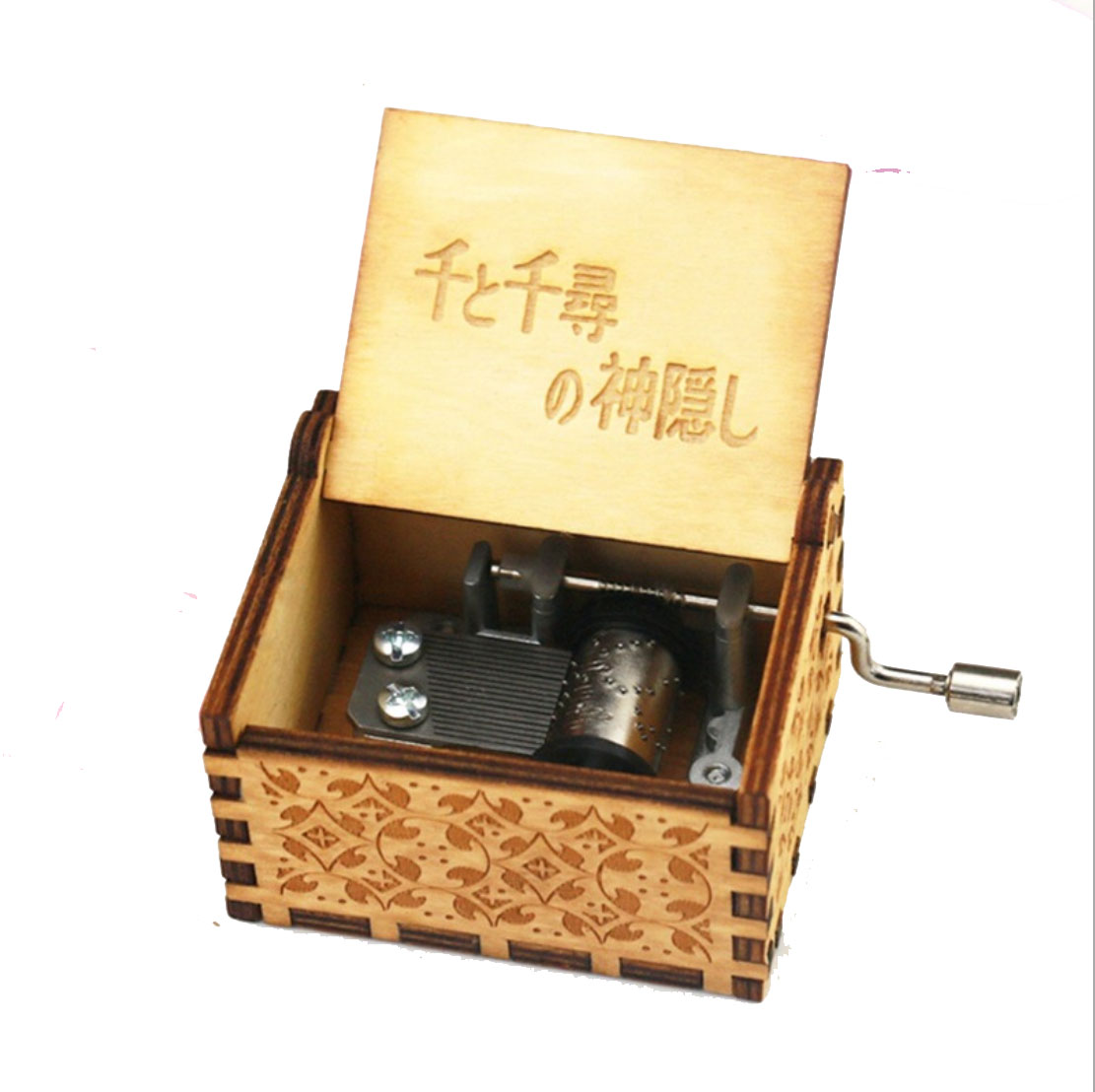 Handmade Wood Carving Music Box Harri Potter Theme Wooden Carving Music Box The Beauty Ande The Beast Box Gifts in Music Boxes from Home Garden