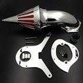 Envío gratis piezas de la motocicleta filtro de Aire Spike Limpiador Kits del mercado de accesorios para Honda Aero 750 VT750 todo el año 1986-2012 cromo