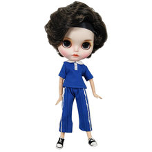 Hot 30CM 12inches Blyth Doll Joint Body Fashion BJD DIY 1/6 Girl Dolls In Cool Student Clothes Toys Gift Special Price On Sale genuine east charm 1 6 like bjd blyth dolls shou princess with makeup multi purpose joint high quality collection gift toys