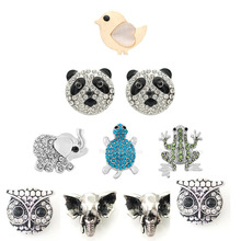 10pcs/lot Wholsale 18mm Snap Jewelry Mixed Styles Buttons Fit Bracelet Bangles Necklace for women animal shape jewelry