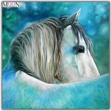 Mooncresin diy алмазная живопись вышивка крестиком белая голова