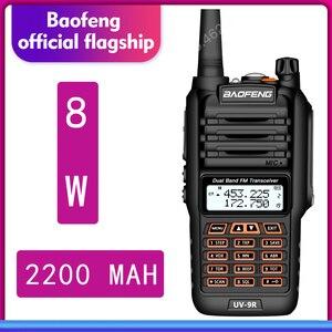 Image 1 - De BaoFeng UV 9R Plus resistente al agua de mano Walkie Talkie 8 vatios doble banda UHF, VHF IP67 transceptor HF UV 9R jamón portátil radio