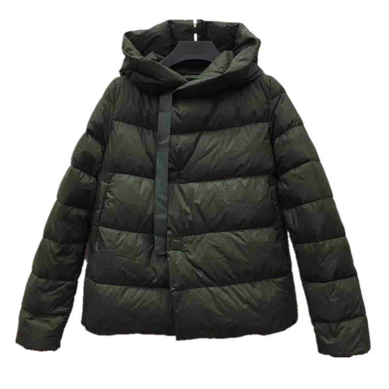 YNZZU Ultra Light 2018 Autumn Winter   Down   Jackets Women Ribbon Casual Duck   Down     Coats   Female Warm Hooded Overcoat O648