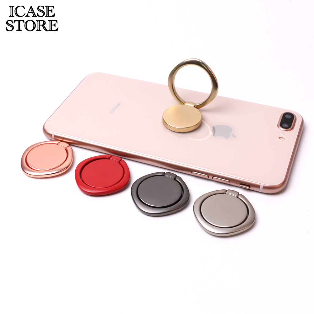 Ikase store 360 Degree Finger Ring Metal Phone Holder For